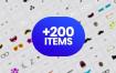 超过+200个怪物插图图形素材下载,将其用作促销品牌或服务