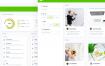 社交网络大数据跟踪统计ui界面设计素材下载
