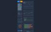 112个设计组件的用于电子商务,股票,使用资源等独特漂亮的图表ui设计源文件素材下载,提供sketch格式的ui设计素材下载