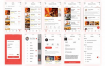 餐饮外卖快餐美食app应用界面ui设计素材,提供包含psd和sketch格式的源文件ui设计素材下载