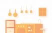 二十多种厨房相关插图设计素材,提供sketch格式的源文件ui设计素材下载