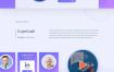 为ICO代理商和数字密码货币投资网站比特币和加密货币网页设计素材下载,提供包含psd和sketch格式的ui设计素材下载