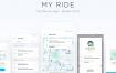 17个出租车服务app应用界面设计素材下载