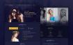 优秀的美容美发网页设计素材下载