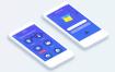 一套蓝色清爽的app界面ui设计素材下载,提供psd格式的源文件下载