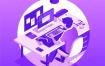 10款2.5D小场景等距立体三维插画作品创意图形APP设计素材下载