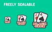 76个赌场扑克应用界面网站设置图标素材下载
