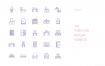 1000个优质的扁平化风格的线条图标素材下载