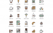 73个食品和饮料咖啡图标矢量图标素材下载