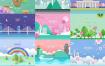 20款韩国高端春季海报PSD素材源文件打包下载