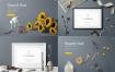 9款简约深色系北欧家居针线缝纫物品相框摆设样机俯拍高清素材PSD源文件打包下载