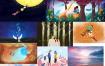 77张高清情人节插画PSD素材源文件打包下载