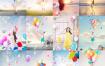 20款女生旅行拍照多彩气球效果游乐园主题海报PSD模板素材 – 资源大小2.22GB,包含PSD源文件