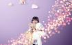 16款儿童摄影写真粒子光效背景海报PSD源文件模板素材