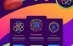 32款大数据科技线条插画图标绚丽多彩渐变AI矢量设计素材