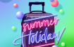 11款夏日缤纷渐变旅行假日主题电商促销主页海报PSD素材