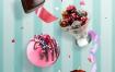 14款创意美食海报甜点水果西餐披萨下午茶海报PSD设计素材