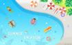 6款夏日清凉冲浪沙滩度假热带人物游泳夏威夷暑假PSD素材