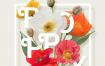 20款鲜花花卉清新品质樱花玫瑰向日葵薰衣草百合海报PSD素材