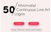 50个有趣线性LOGO设计模板矢量素材下载(含ai,eps,psd,pdf格式)