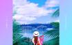 12款夏日风情创意渐变海报模板音乐歌单专辑封面唯美背景PSD源文件