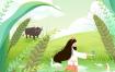 15款节气时节中国风清新手绘插画人物风景PSD设计素材