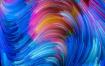 25张唯美彩色高清图梦幻七彩质感底纹背景线条波浪设计素材
