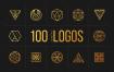 100个线性几何LOGO徽标矢量素材合集