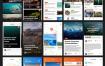 超过125+个简洁的app源文件ui设计精品素材下载