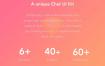 文艺小清新的ui界面设计app素材下载