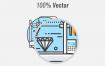20个精心设计的科技未来图标ui设计素材下载