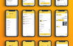 预定出租车打车app界面设计UI设计工具包优质设计素材下载(提供Sketch格式下载)