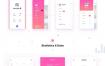 80个华丽的扁平化小清新app界面ui设计素材下载,提供sketch格式的源文件下载