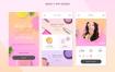 8款小清新美妆护肤类APP界面H5页面设计模板PSD素材源文件