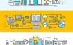 44张扁平化商务线条信息图工作台AI矢量设计素材(包含AI,EPS,PNG,JPG,PDF等多种格式)