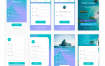 清爽的app界面ui设计素材下载