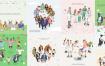 10款扁平化风格团队人物商务创业合作白领人物插画AI设计素材