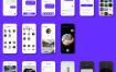 40多个精品简洁美观的卡片式UI设计语言社交应用UI界面优质设计素材下载,提供sketch源文件