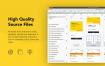 黄色系精品完整项目的租车打车共享用车app界面设计优质设计素材下载,提供sketch格式源文件