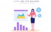 52款工作生活平衡办公小场景网页UI插画娱乐休闲插图AI矢量素材