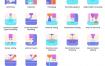 58个3D打印平面图标优质设计素材下载