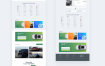 清新的网站和企业电子商务模板素材下载(提供Sketch格式下载)