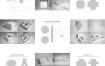 52款白金版精品异形盒纸盒纸袋包装盒子平面展开图结构刀模盒型图AI矢量设计素材下载