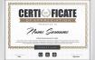 欧美英文企业公司商业品牌授权毕业荣誉奖励证书模版矢量设计素材