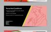 时尚潮流促销门票券卡片banner海报广告背景平面设计矢量ai素材图