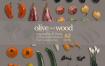 木制西餐牛排餐具厨具刀叉展示样机食物海报banner合成ps设计素材