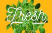 花卉花朵绿色植物叶子夏日艺术字海报传单招贴模版ps平面设计素材