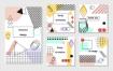 时尚创意抽象几何点线面英文海报传单卡片封面模版eps矢量素材图