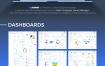 现代简洁干净的后台管理系统网页设计模板素材下载(提供Sketch格式下载)