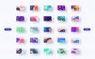 100张完全定制的金融设计卡素材下载(提供PSD和XD格式源文件)